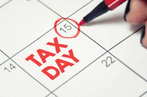 Tax Services Tax Day Calendar Image