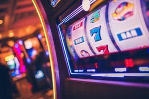 Slot machine at casino.